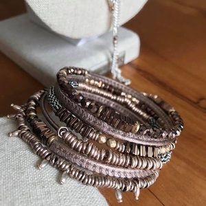 Stella & Dot Jarne Coil Bracelet in Bronze